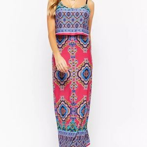 [NEW] Forever 21 ornate layered Maxi Dress, size M